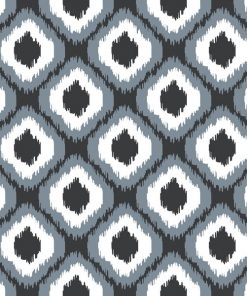 (Shopcabin) October in the Wild, Small Wild Ikat in Dark Grey