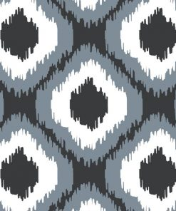 (Shopcabin) October in the Wild, Wild Ikat in Dark Grey