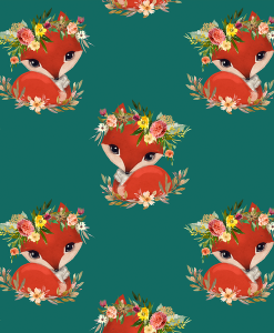 (Shopcabin) September Blooms, Foxy in Emerald