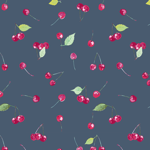 (Katarina Roccella) Floralish, Cherry Picking⁠ in Charcoal Katarina Roccella FSH-17403 1