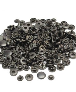 "Metal Snap Button 12mm (1/2"") in Gun Black - 10 sets 4"