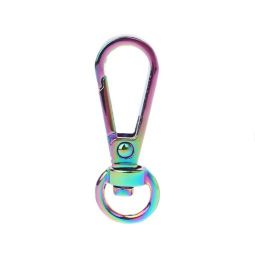 Small Swivel Hook with Lobster Claps in Iridescent Rainbow Shambijoux HOOK-SL-38-RBOW 2