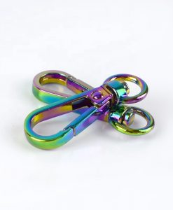 Small Swivel Hook with Lobster Claps in Iridescent Rainbow 9