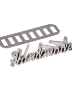 Metal Tag, Handmade Label Script Style in Silver 4