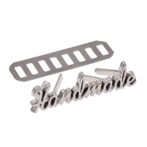 Metal Tag, Handmade Label Script Style in Silver 2