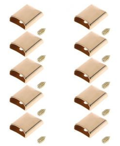 Metal Zipper Ends or Cord Ends in Light Gold 7