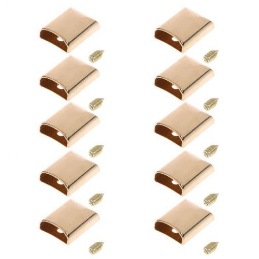 Metal Zipper Ends or Cord Ends in Light Gold 2