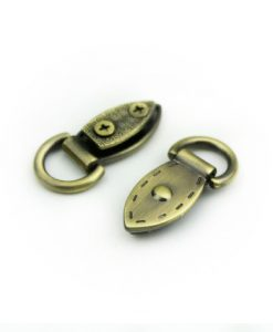 Metal Mini Strap Connector, Leaf Buckle in Brushed Brass 3