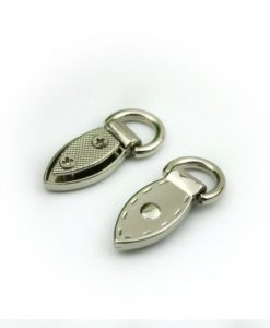 Metal Mini Strap Connector, Leaf Buckle in Silver 3