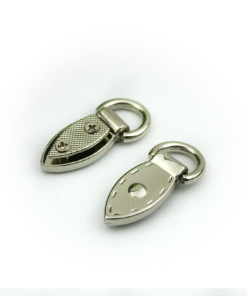 Metal Mini Strap Connector, Leaf Buckle in Silver 2