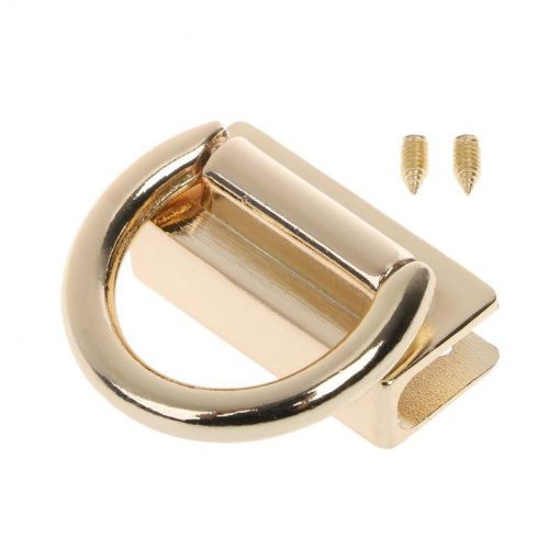 Metal Strap Connector, With D-Ring Style1 in Light Gold 2
