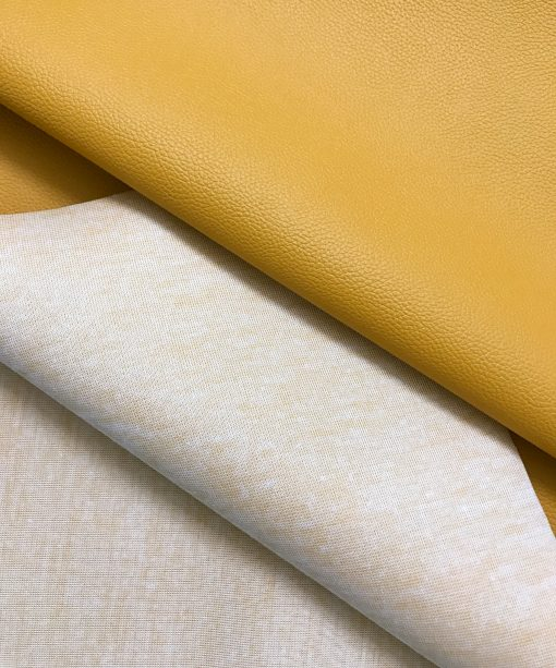 PVC Leather in Mustard Yellow 0.65 mm thickness 2