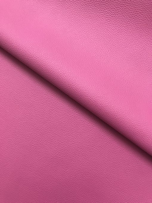 PVC Leather in Rose Pink 0.65 mm thickness 1