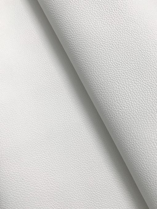 PVC Leather in White 0.65 mm thickness 1