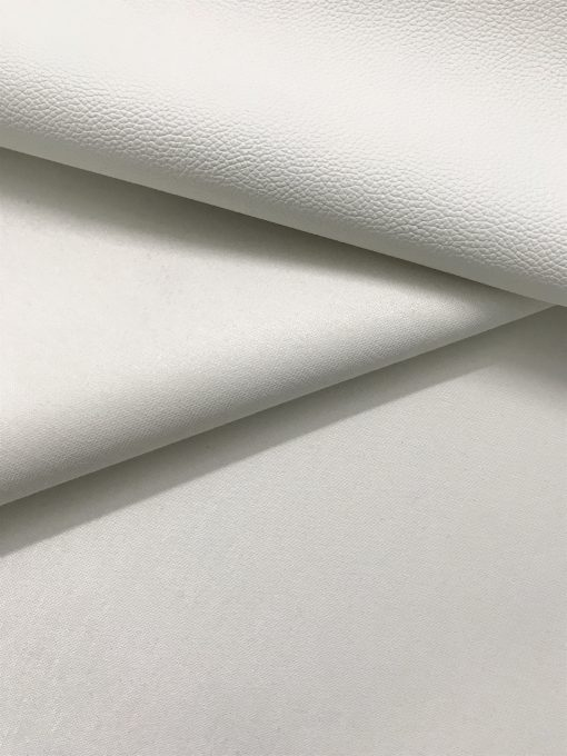 PVC Leather in White 0.65 mm thickness 2