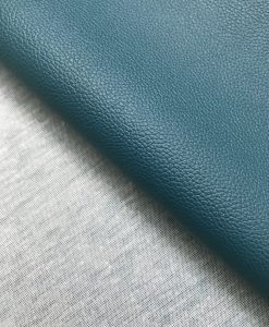 PVC Leather Turquoise Green Backing