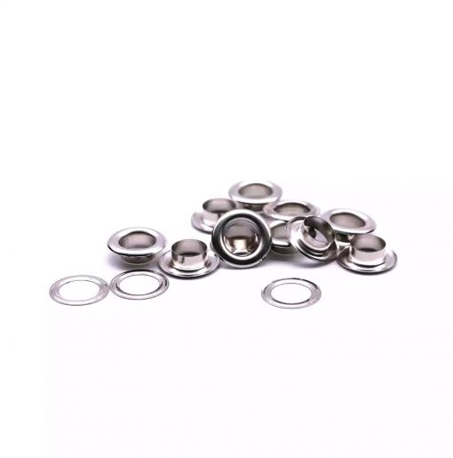 "Eyelets 12mm (1/2"") in Silver - 10 sets 1"