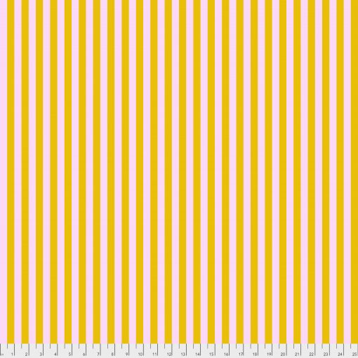 (Tula Pink) True Colors Pom Poms & Stripes, Tent Stripe In Marigold