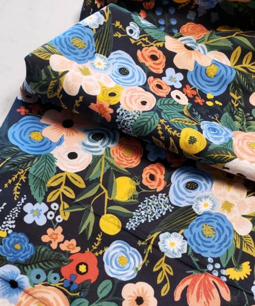 (Rifle Paper Co) Wildwood, Garden Party in Navy Rifle Paper Co. RP100-NA2 2