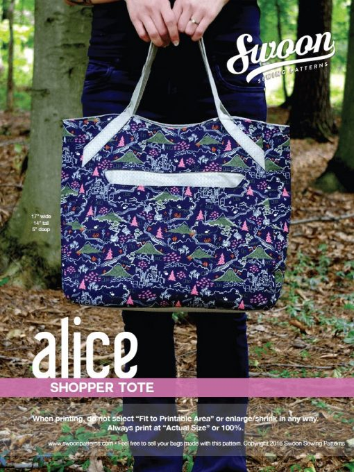 Alice Shopper Tote - PDF Pattern (by Swoon Patterns) Swoon 1