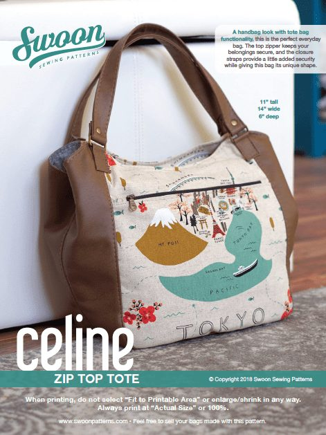 Celine Zip Top Tote - PDF Pattern (by Swoon Patterns) Swoon 1