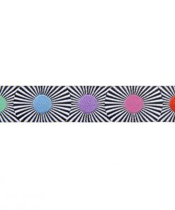 "(Tula Pink Ribbons) Linework, Black Stripes and Multi Dots 7/8"" Tula Pink TK-63_22mm_col_1 5"