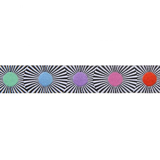 "(Tula Pink Ribbons) Linework, Black Stripes and Multi Dots 7/8"" Tula Pink TK-63_22mm_col_1 2"